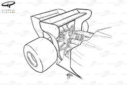 Toleman TG184 1984 rear wings detail