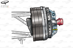 Ferrari F2001 front brake duct and assembly