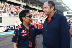 Chalerm Yoovidhya, Red Bull Racing Co-Owner with Gerhard Berger on the grid