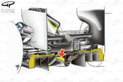 Brawn BGP 001 2009 double diffuser detail view