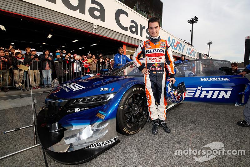 Dani Pedrosa en el auto Honda NSX Concept-GT
