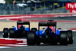 Esteban Ocon, Manor Racing MRT05 sigue a su compañero Pascal Wehrlein, Manor Racing MRT05