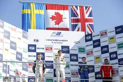 Podium: Race winner Lance Stroll, Prema Powerteam Dallara F312 - Mercedes-Benz; second place Joel Eriksson, Motopark Dallara F312 - Volkswagen; third place Jake Hughes, Carlin Dallara F312 - Volkswagen