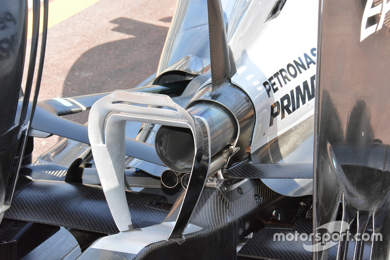Mercedes AMG F1 Team W07, Heck Detail
