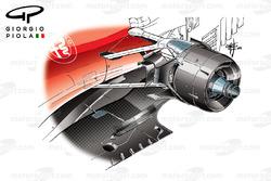 Ferrari SF16H brake duct, Canadian GP