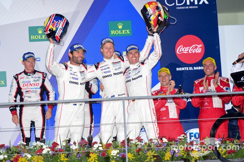 Race winners #2 Porsche Team Porsche 919 Hybrid: Romain Dumas, Neel Jani, Marc Lieb