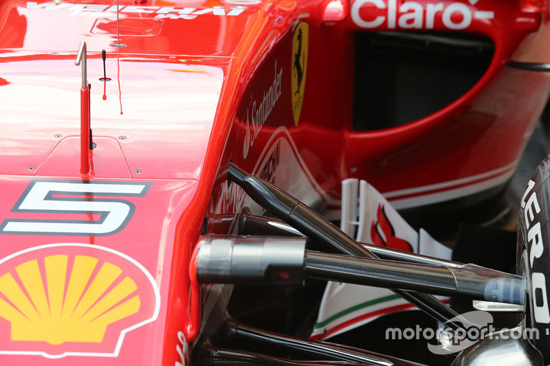 Ferrari SF16-H side pods inlet detail