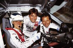 Roland Asch, Mercedes, mit seinen Mercedes-Markenkollegen Bernd Schneider und Klaus Ludwig