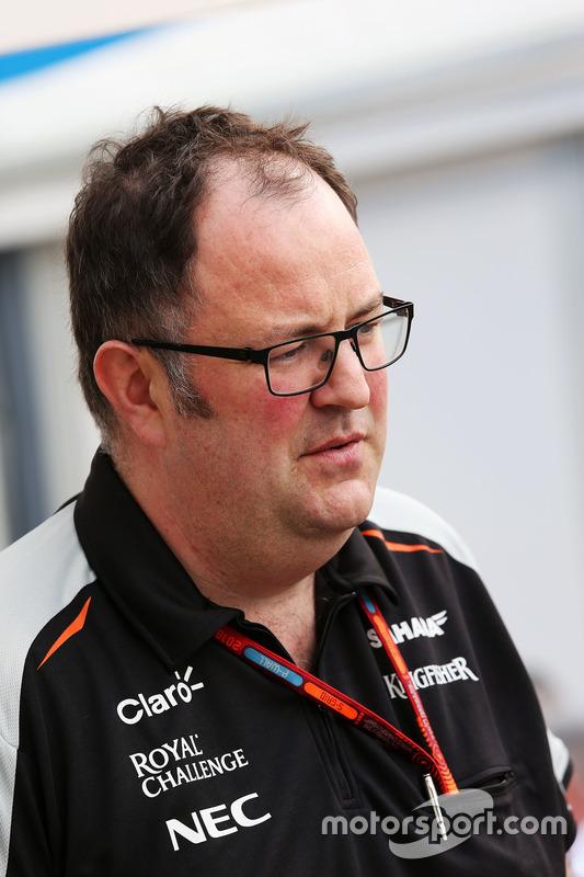 Tom McCullough, Sahara Force India F1 Team Chief Engineer