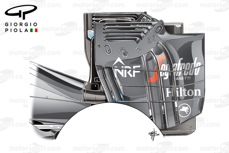 McLaren MP4-31: Heckflügel, GP Österreich