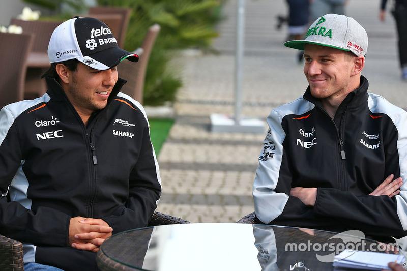 Sergio Perez, Sahara Force India F1 with Nico Hulkenberg, Sahara Force India F1