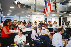 The McLaren team lay on an American celebration to celebrate the efforts of their driver Fernando Alonso in the Indy 500