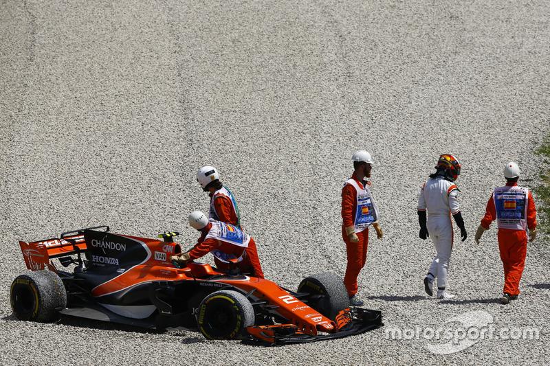 Маршали і McLaren MCL32 Стоффеля Вандорна