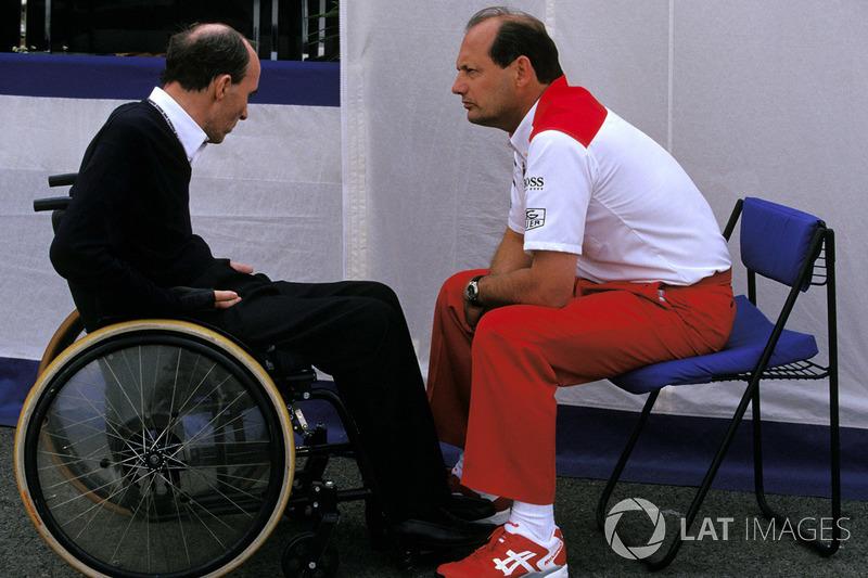 Владелец команды Williams Фрэнк Уильямс и владелец команды McLaren Рон Деннис