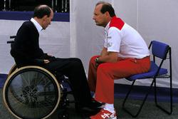 Frank Williams, Williams-Teamchef; Ron Dennis, McLaren-Teamchef
