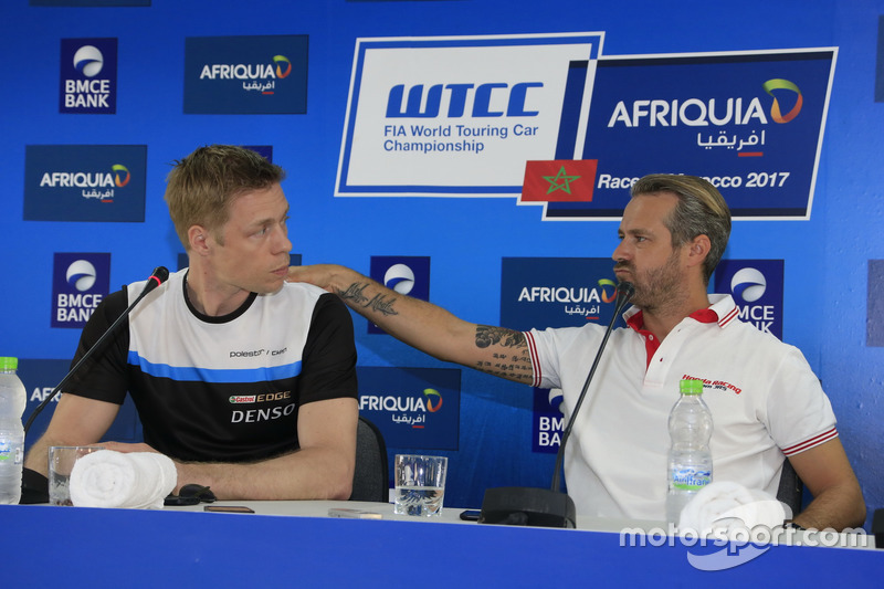 Thed Björk, Polestar Cyan Racing, Volvo S60 Polestar TC1, Tiago Monteiro, Honda Racing Team JAS, Honda Civic WTCC