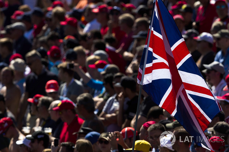 A union flag in the crowd