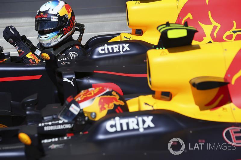 Макс Ферстаппен, Red Bull, Даніель Ріккардо, Red Bull Racing, у  закритому парку