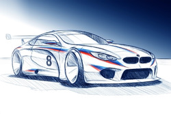 Рендер BMW M8 GTE