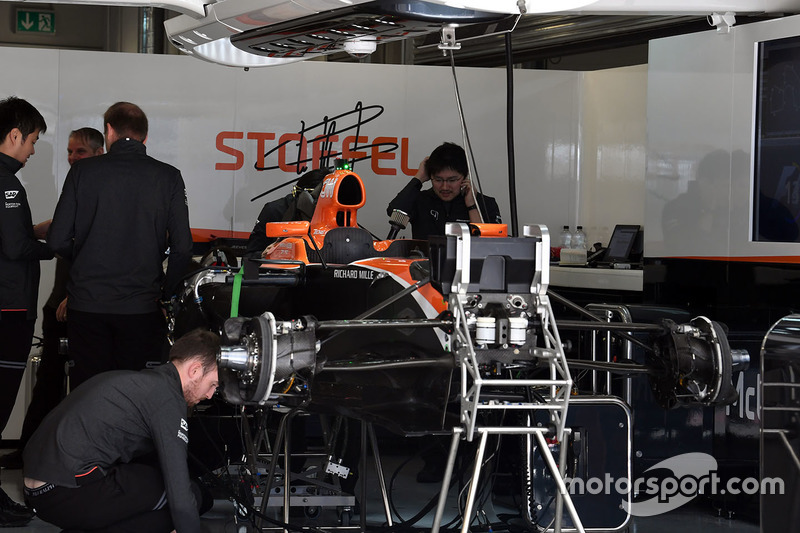 McLaren MCL32 in the garage
