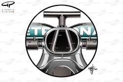 Mercedes F1 W07 Hybrid airbox