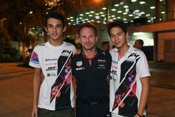 Daniel Frost, winner of the F4 race in which all cars ran out of fuel, Christian Horner, Red Bull Racing Team Principal