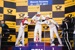 Podium: Race winner Maro Engel, Mercedes-AMG Team HWA, Mercedes-AMG C63 DTM, second place Mattias Ekström, Audi Sport Team Abt Sportsline, Audi A5 DTM, third place Bruno Spengler, BMW Team RBM, BMW M4 DTM