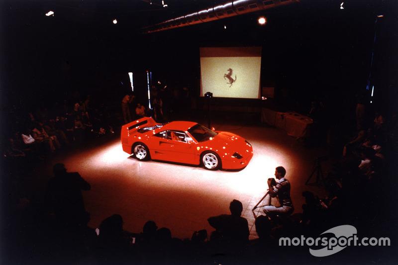 Офіційна презентація Ferrari F40 у Маранелло 21 липня 1987