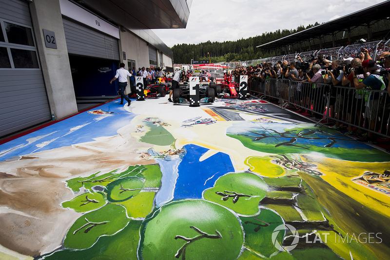 Gran Premio de Austria: dibujos en el parc fermé