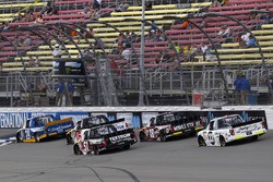 Austin Cindric, Brad Keselowski Racing Ford, Kyle Busch, Kyle Busch Motorsports Toyota and Noah Gragson, Kyle Busch Motorsports Toyota