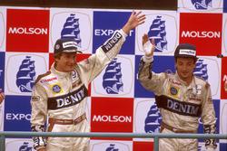 1. Thierry Boutsen, Williams; 2. Riccardo Patrese, Williams