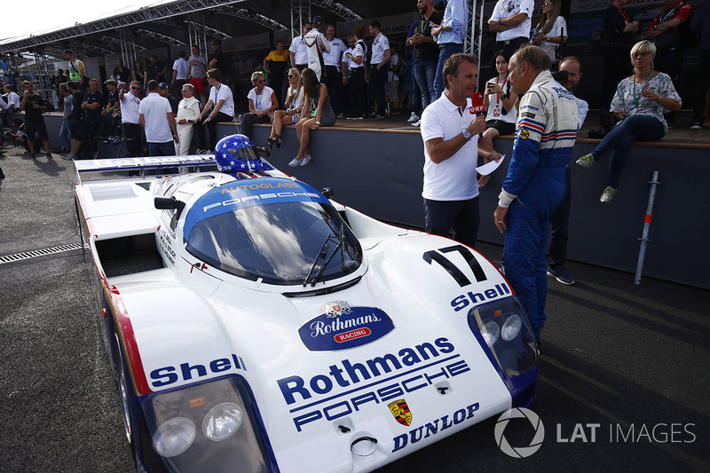 Ханс-Йоахім Штук біля 1986/1987 Porsche 962c