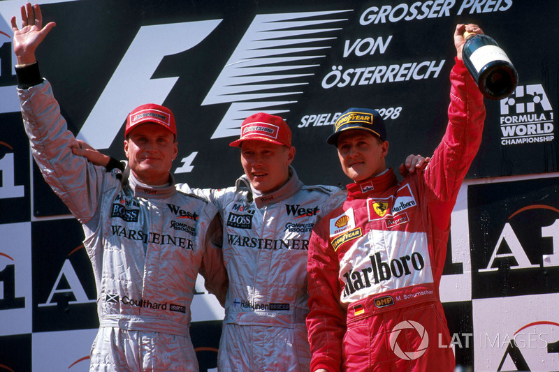 1998: 1. Mika Hakkinen 2.David Coulthard y 3.Michael Schumacher