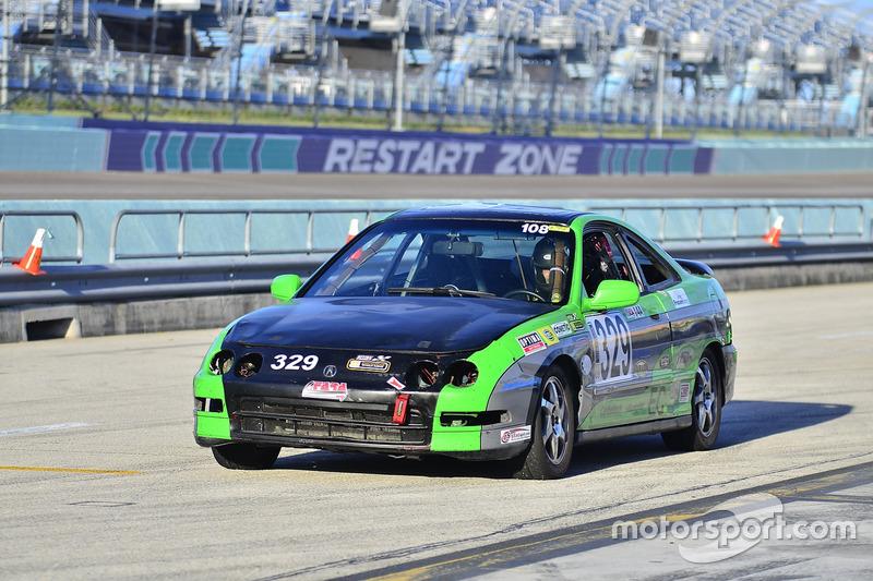 #329 MP4C Acura Integra driven by Ricardo Rey of MSRacing