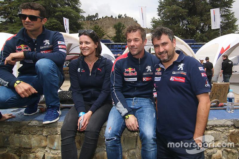 Cyril Despres, Sébastien Loeb, Daniel Elena, Peugeot Sport