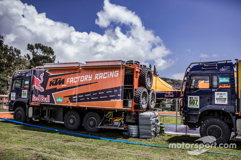 Truck of Red Bull KTM Factory Racing at the bivouac