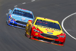 Joey Logano, Team Penske Ford and Aric Almirola, Richard Petty Motorsports Ford
