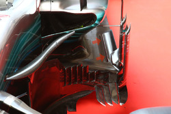 Mercedes AMG F1 W08 sidepod detail