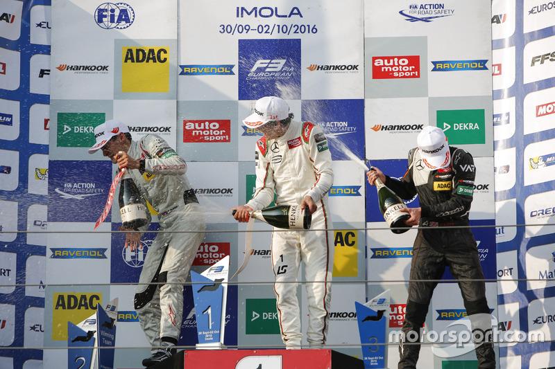 Podium: George Russell, HitechGP Dallara F312 – Mercedes-Benz; Lance Stroll, Prema Powerteam Dallara F312 – Mercedes-Benz; Callum Ilott, Van Amersfoort Racing Dallara F312 – Mercedes-Benz