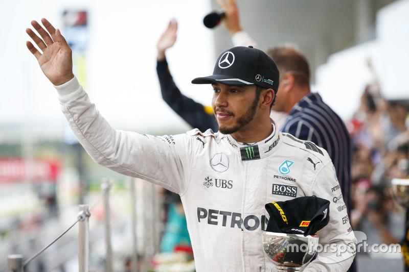 Podium: third place Lewis Hamilton, Mercedes AMG F1