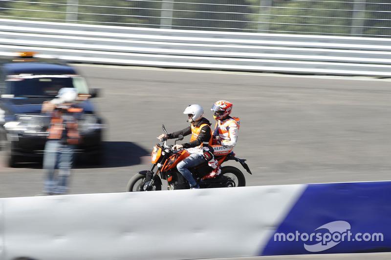 Marc Marquez, Repsol Honda Team dopo la caduta