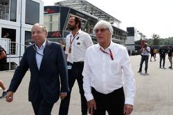 Jean Todt, Presidente de la FIA con Bernie Ecclestone