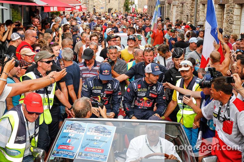 Timmy Hansen, Team Peugeot Hansen, Sébastien Loeb, Team Peugeot Hansen