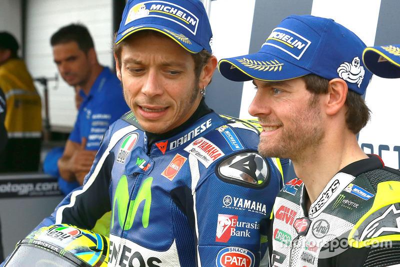Il secondo qualificato Valentino Rossi, Yamaha Factory Racing e il poleman Cal Crutchlow, Team LCR Honda