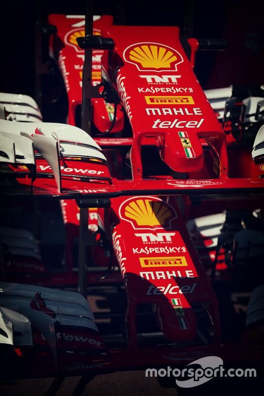 Les ailerons avant de la Ferrari SF16-H