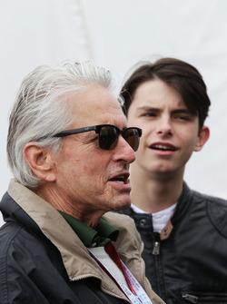 Michael Douglas, Actor with his son Dylan Douglas