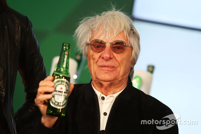 Bernie Ecclestone, anuncia patrocinio de F1 con Heineken