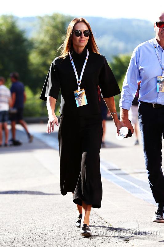 Minttu Raikkonen, wife of Kimi Raikkonen, Ferrari