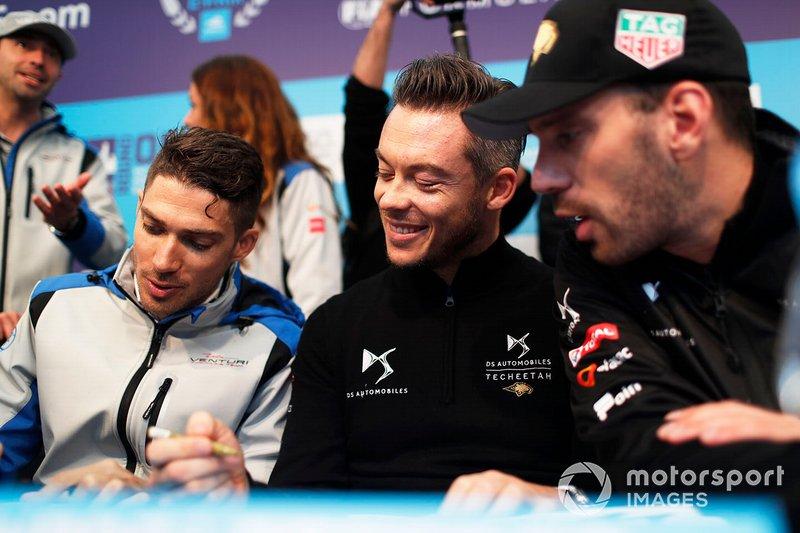 Edoardo Mortara, Venturi Formula E, Andre Lotterer, DS TECHEETAH, Jean-Eric Vergne, DS TECHEETAH at the autograph session