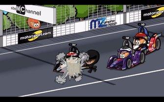 El ePrix de Santiago de Chile, accidente de Buemi delante de Bird y Wehrlein